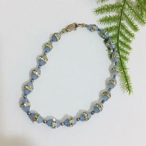 Jewelry - .925 silver with CZ and blue beads bracelet